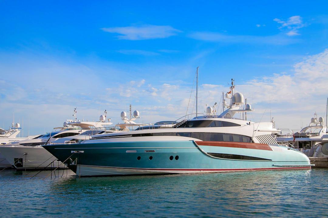 Luxury Yacht Docked